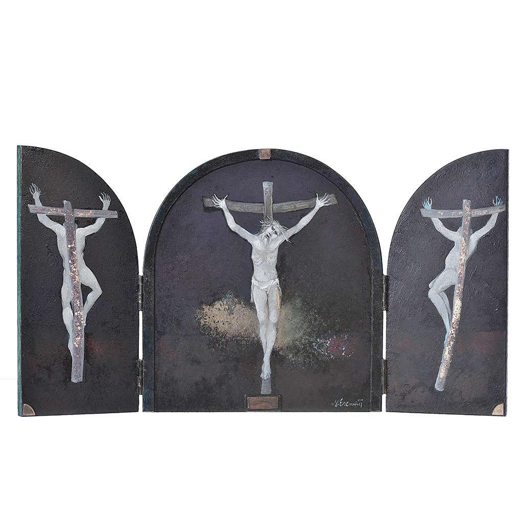 Tabula fenestrata Crocifissione artista Mario Eremita 3