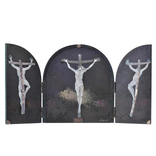 Tabula fenestrata Crocifissione artista Mario Eremita 1
