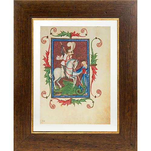 San Giorgio codice miniato 1