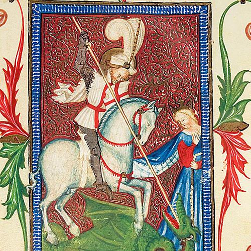 San Giorgio codice miniato 2