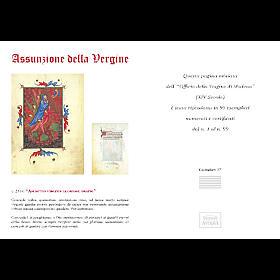 Assunzione della Vergine codice miniato s5
