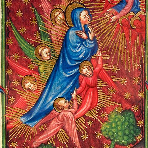 Assunzione della Vergine codice miniato 2