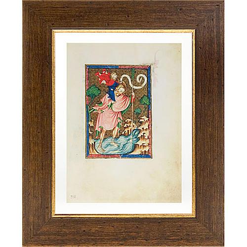 Saint Christopher illuminated manuscript 1