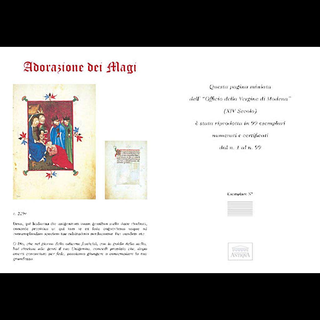 Adorazione dei Re Magi codice miniato 3