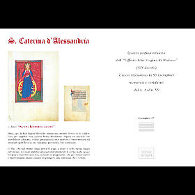 Sainte Catherine d'Alessandria code miniature s5