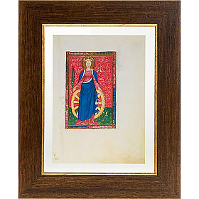 Saint Catherine of Alexandria illuminated manuscript s1