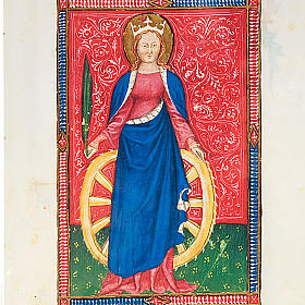 Saint Catherine of Alexandria illuminated manuscript s2