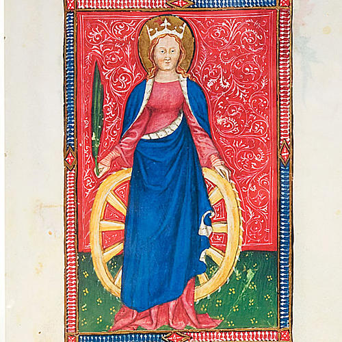 Saint Catherine of Alexandria illuminated manuscript 2