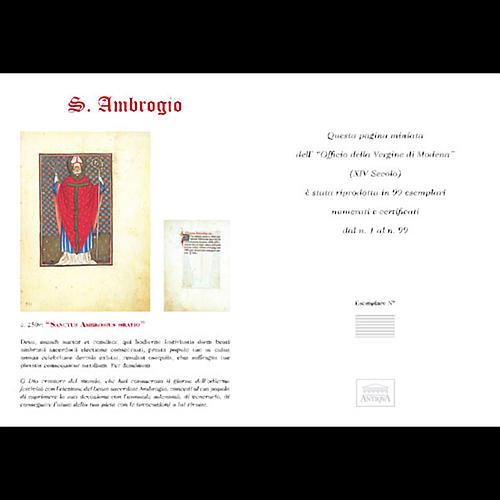 Sant'Ambrogio codice miniato 5
