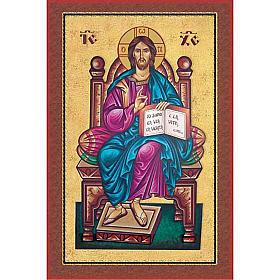Print, Pantocrator on the throne s1