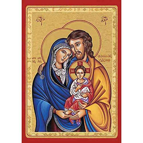 Stampa Sacra Famiglia bizantina 1