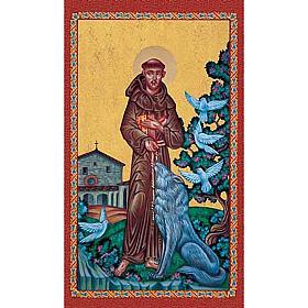 Paintings, printings, illuminated manuscripts: Print, Saint Francis and wolf