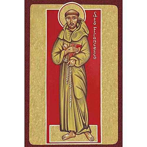 Stampa San Francesco d'Assisi con libro 1