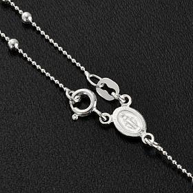Collana rosario argento 925 grani 3 mm s3