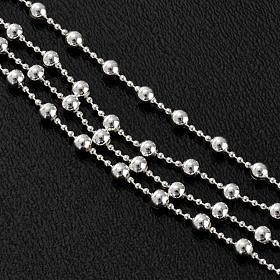 Collana rosario argento 925 grani 3 mm s4
