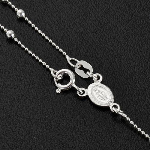 Collana rosario argento 925 grani 3 mm 3
