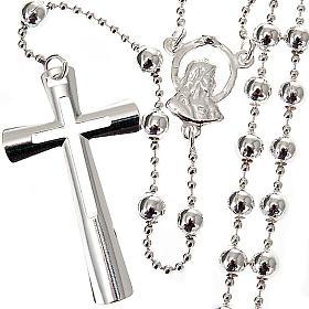 Collana rosario argento 925 grani 4 mm s1