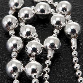 Collana rosario argento 925 grani 4 mm s3