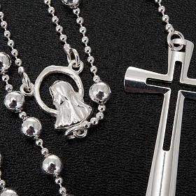 Collana rosario argento 925 grani 4 mm s4