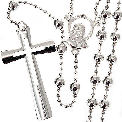 Collana rosario argento 925 grani 4 mm 1