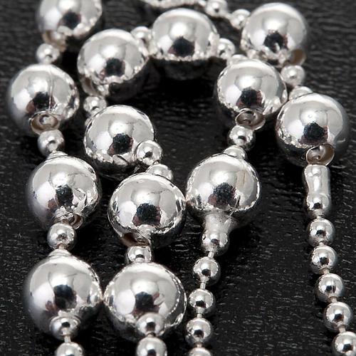 Collana rosario argento 925 grani 4 mm 3