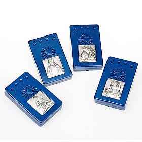 Rosario Electrónico azul con imagen plateada, Idioma Italiano s7