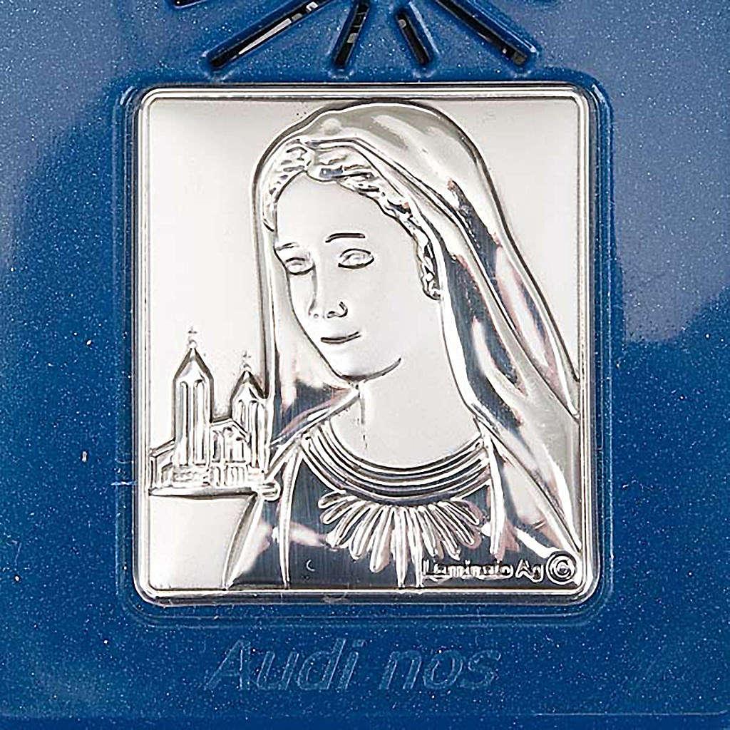 Rosario elettronico blu immagine argento 4
