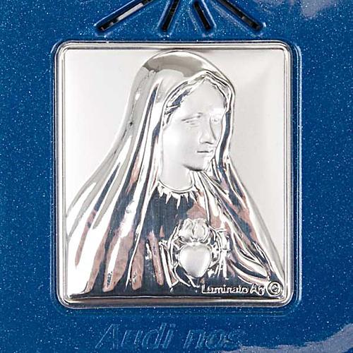 Rosario elettronico blu immagine argento 3