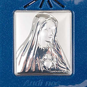Digital Rosary with silver image blue version s3