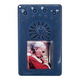Chapelet électrique bleu Jean Paul II, litanies de Lorette en italien s1