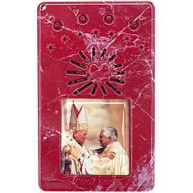 Chapelet électrique bleu Jean Paul II, litanies de Lorette en italien s5