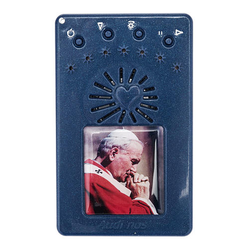 Chapelet électrique bleu Jean Paul II, litanies de Lorette en italien 1