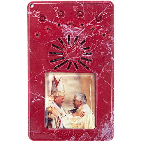 Chapelet électrique bleu Jean Paul II, litanies de Lorette en italien 5