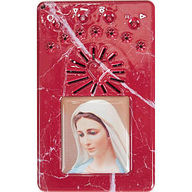 Digital Rosary and divine mercy prayer blue s6