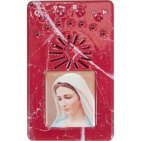 Chapelet digital avec prière de la divine miséricorde bleu en Italien s6