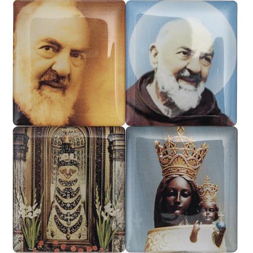 Chapelet digital avec prière de la divine miséricorde bleu en Italien 3