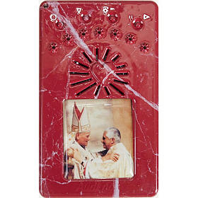 Chapelet digitale Jean Paul II, divine miséricorde bleu s6