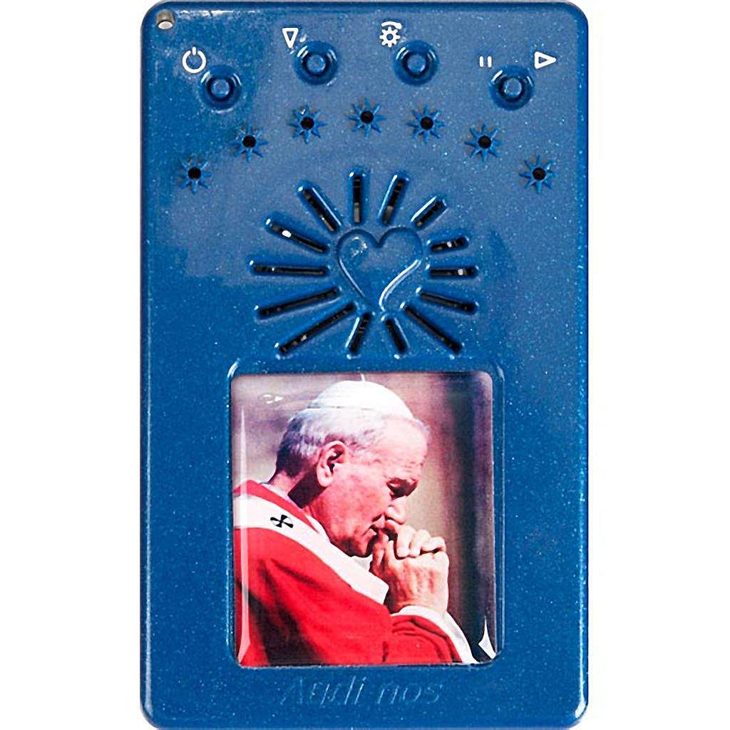 Rosario Elettronico blu Giovanni Paolo II Coroncina 4