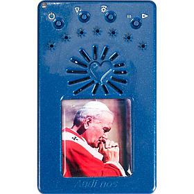 Rosario Elettronico blu Giovanni Paolo II Coroncina s5