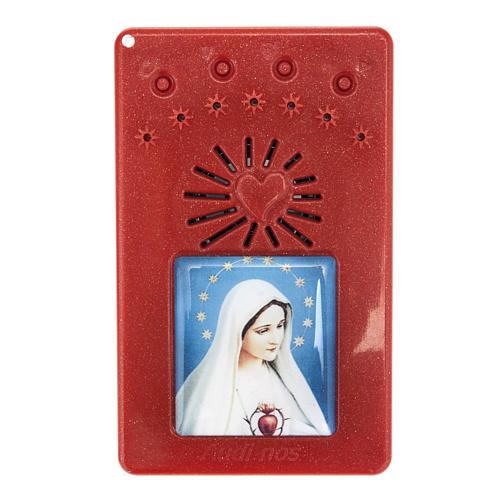 Rosario Electrónico Rojo Corona Divina Misericordia ITA 1