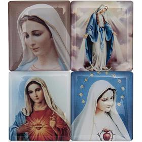 Rosario Rosso marmorizzato Coroncina Divina Misericordia s2