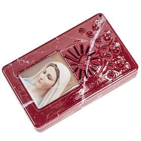 Rosario Rosso marmorizzato Coroncina Divina Misericordia s4