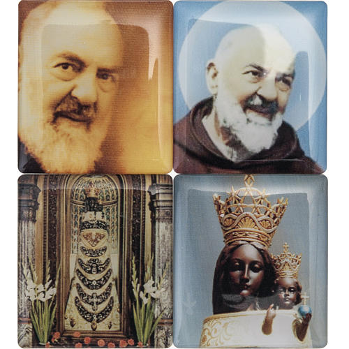 Rosario Rosso marmorizzato Coroncina Divina Misericordia 3
