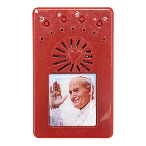 Rosario Electrónico rojo J. Pablo II Letanías ITAL 1