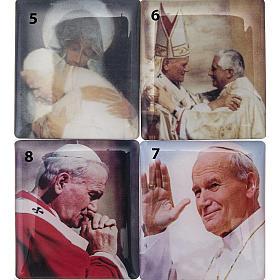 Rosario Elettronico rosso marmorizzato G.Paolo II Litanie s3