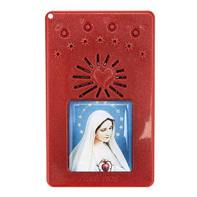 Electronic rosary with Litanies of the Blessed Virgin Mary red s1