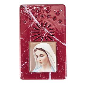 Rosario Elettronico rosso marmorizzato Litanie Lauretane s1