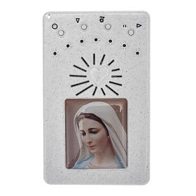 Electronic white rosary with Litanies of the Blessed Virgin Mary s1