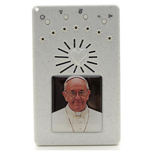 Rosario Electrónico Papa Francisco blanco Corona ITA 1