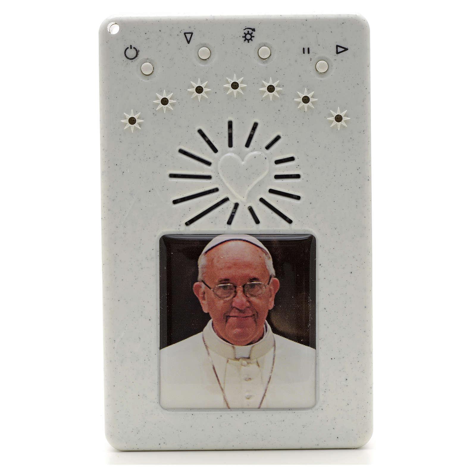 Rosario Elettronico Papa Francesco bianco Coroncina 4